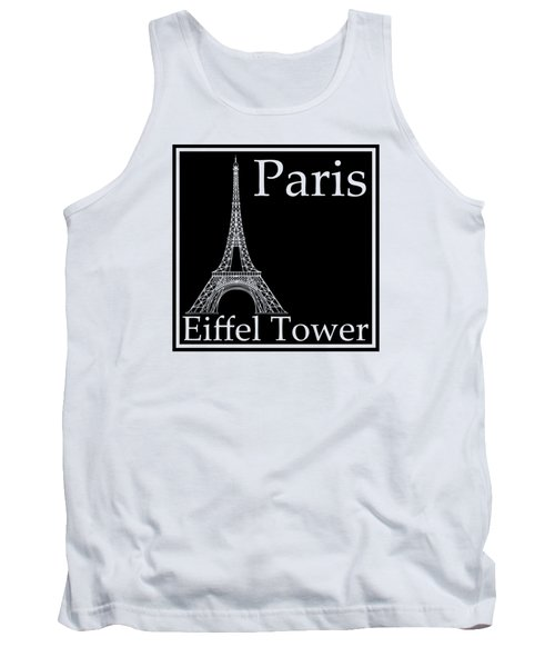 Eiffel Tower In Black Tank Top by Custom Home Fashions