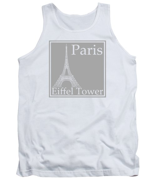 Eiffel Tower In Gray Tank Top by Custom Home Fashions