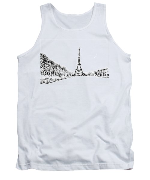 Eiffel Tower Tank Top by ISAW Gallery