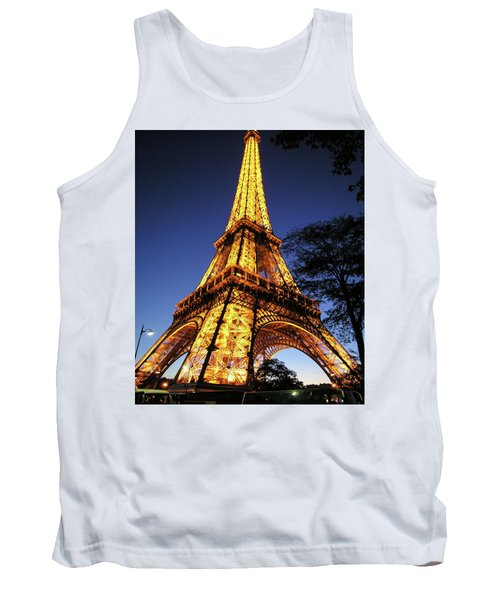 Tank Top featuring the photograph Eiffel Tower by Jim Mathis