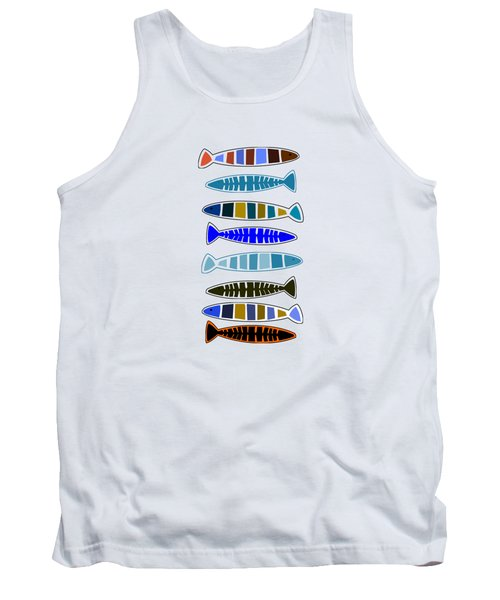 Eight Fish In A Row Tank Top