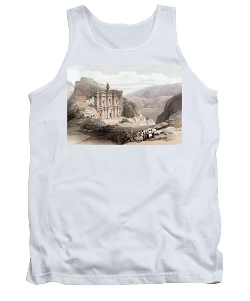 El Deir Petra 1839 Tank Top by Munir Alawi