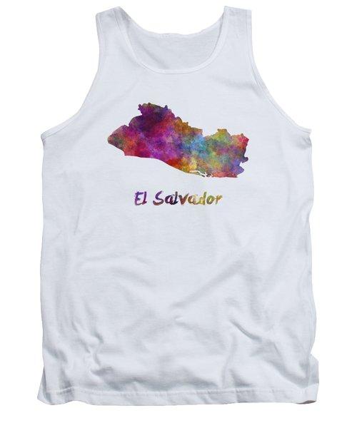 El Salvador In Watercolor Tank Top