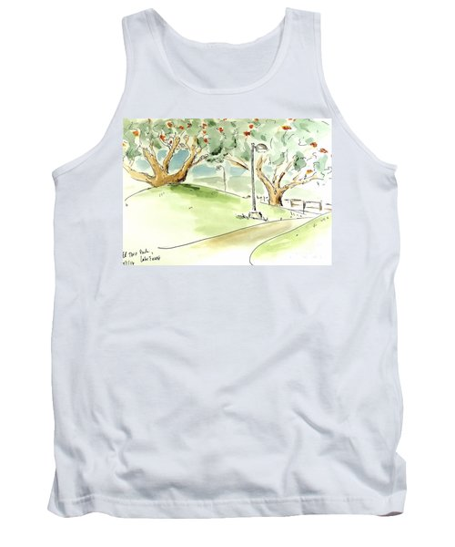 Tank Top featuring the painting El Toro Park by Maria Langgle
