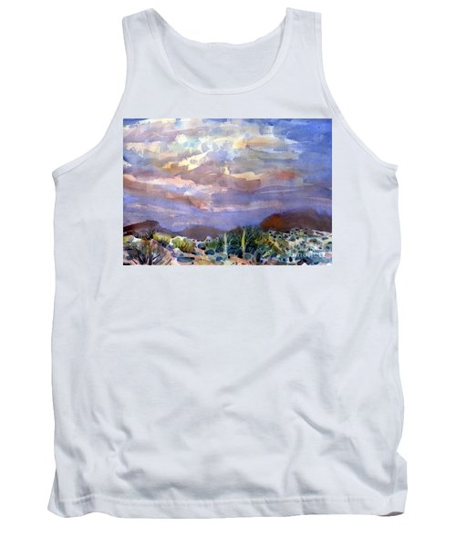 Electric Sunset Tank Top by Donald Maier