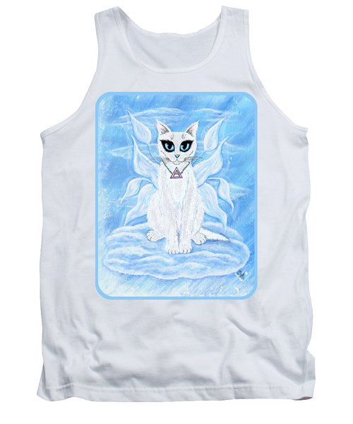 Elemental Air Fairy Cat Tank Top by Carrie Hawks