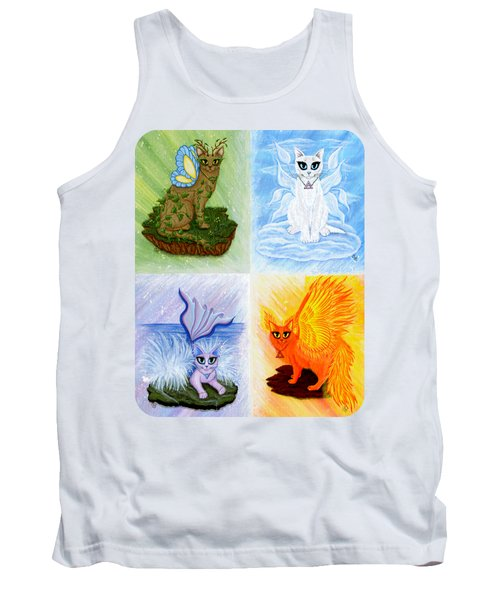 Elemental Cats Tank Top by Carrie Hawks