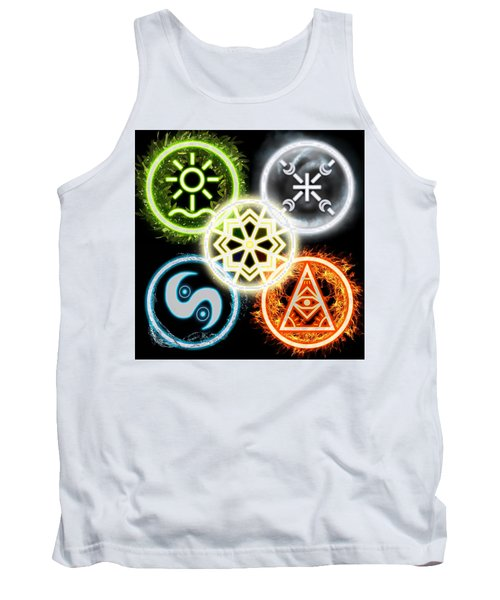 Tank Top featuring the digital art Elements Of Nature by Shawn Dall