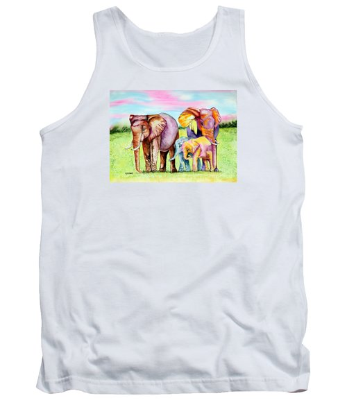 Tank Top featuring the painting Elephant Aura by Maria Barry