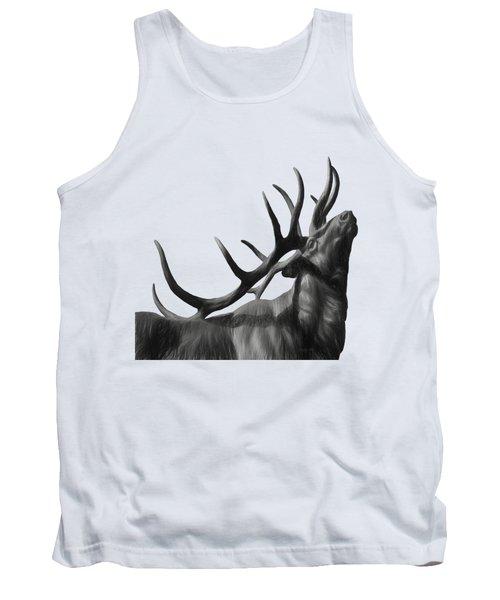 Elk In Black In White  Tank Top