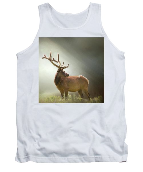 Tank Top featuring the photograph Elk In Suns Rays by David and Carol Kelly