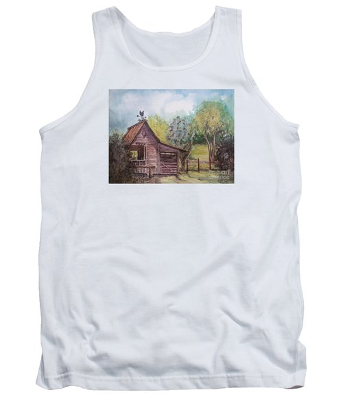 Tank Top featuring the painting Elma's Horse Barn by Gretchen Allen