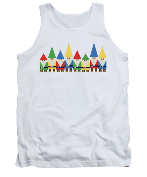 Elves On White Tank Top