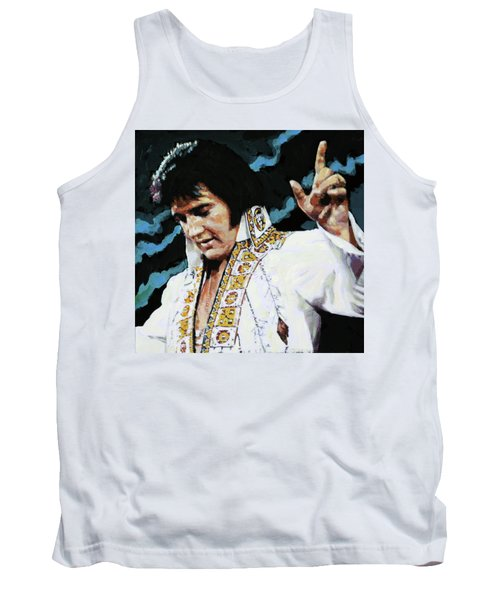 Elvis - How Great Thou Art Tank Top by John Lautermilch