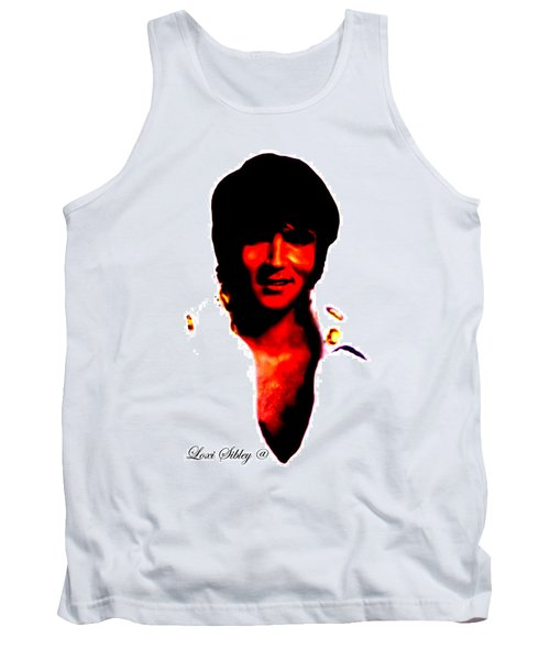 Tank Top featuring the mixed media Elvis By Loxi Sibley by Loxi Sibley