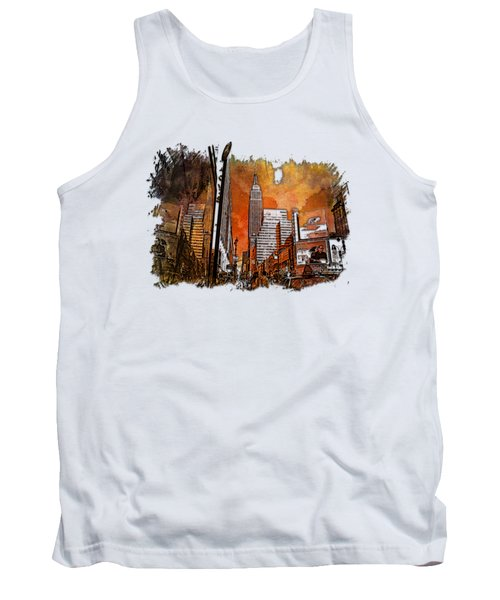Empire State Reflections Earthy Rainbow 3 Dimensional Tank Top by Di Designs