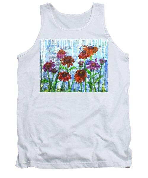 Enchanting Echinacea Tank Top