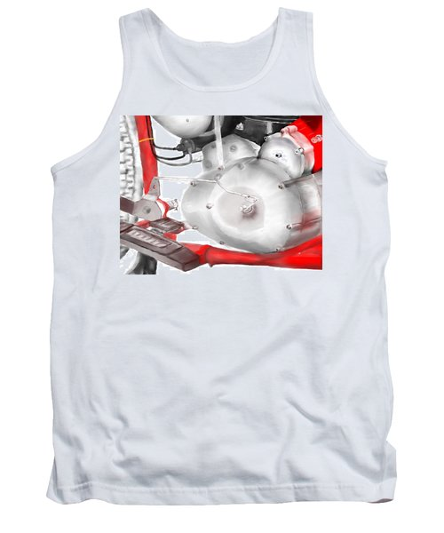 Tank Top featuring the drawing Engine Detail by Terry Frederick