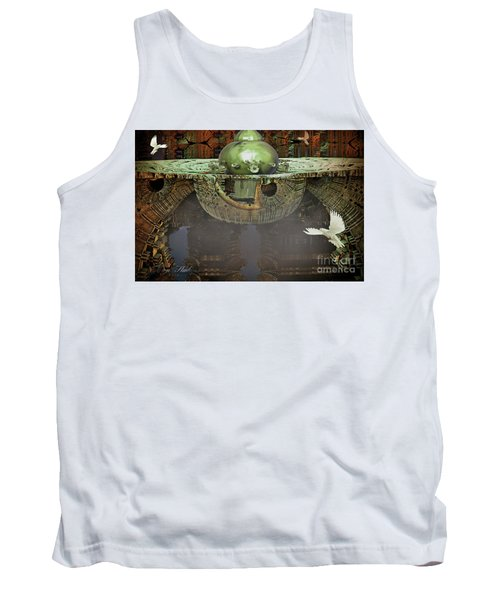 Engine Room Fractal Tank Top by Melissa Messick