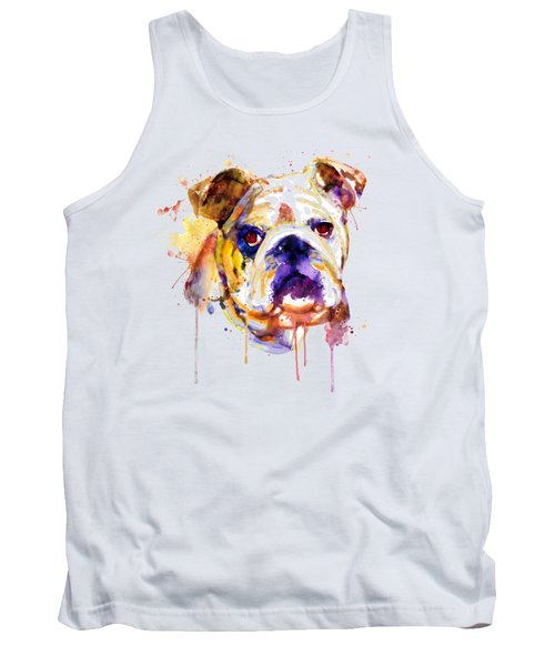 English Bulldog Head Tank Top