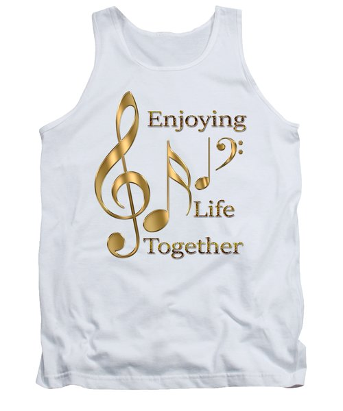 Enjoying Life Together Tank Top by Georgeta Blanaru