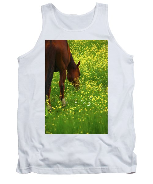 Tank Top featuring the photograph Enjoying The Wildflowers by Karol Livote