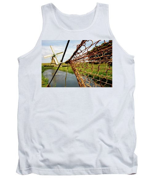 Tank Top featuring the photograph Enkhuizen Windmill And Nets by KG Thienemann