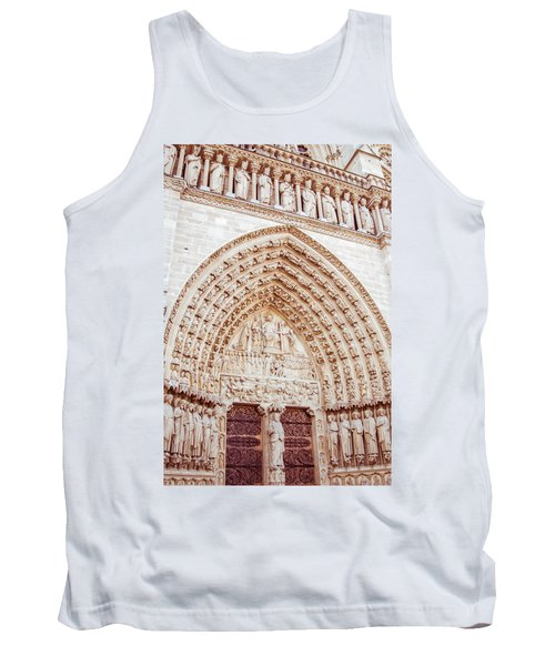 Entrance To Notre Dame Cathedral Tank Top