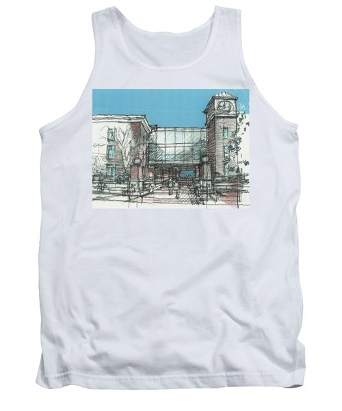 Tank Top featuring the drawing Entry Plaza by Andrew Drozdowicz