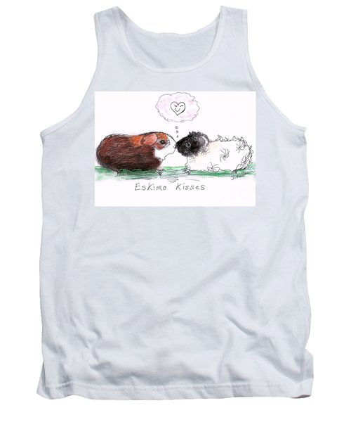 Tank Top featuring the drawing Eskimo Kisses by Denise Fulmer