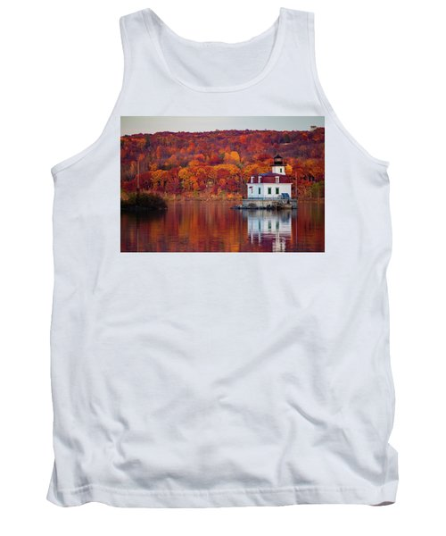 Tank Top featuring the photograph Esopus Lighthouse In Late Fall #1 by Jeff Severson
