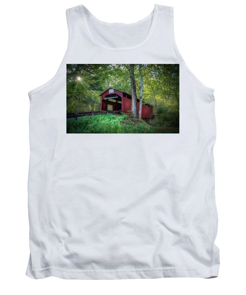 Tank Top featuring the photograph Esther Furnace Bridge by Marvin Spates