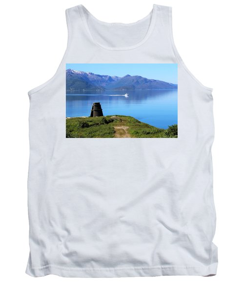 Evenes, Fjord In The North Of Norway Tank Top