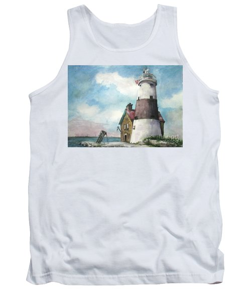 Execution Rocks Lighthouse Tank Top by Susan Herbst