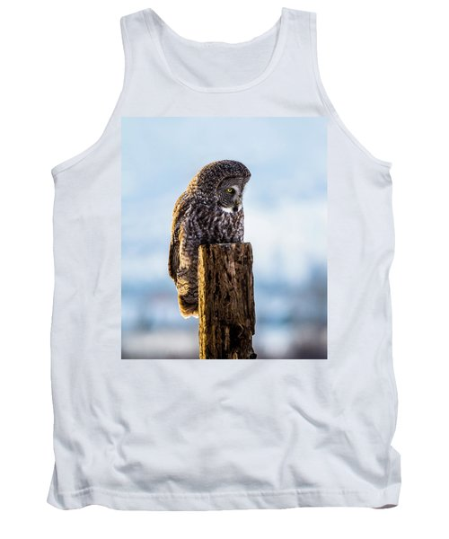 Eye On The Prize - Great Gray Owl Tank Top