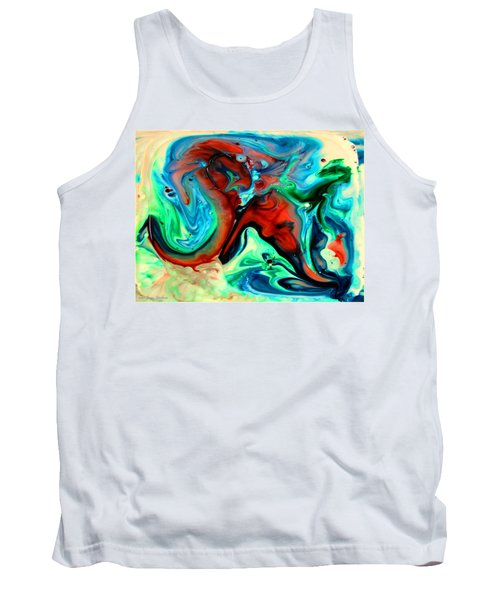 Tank Top featuring the painting Face To Face by Joyce Dickens