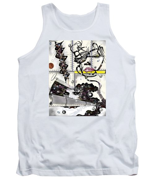Faces In Space Tank Top by Darren Cannell