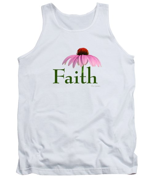 Tank Top featuring the digital art Faith Coneflower Shirt by Ann Lauwers