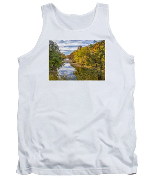 Fall At Turkey Run State Park Tank Top by Alan Toepfer