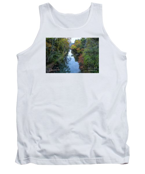 Tank Top featuring the photograph Fall Colors Along The Tallulah River by Barbara Bowen
