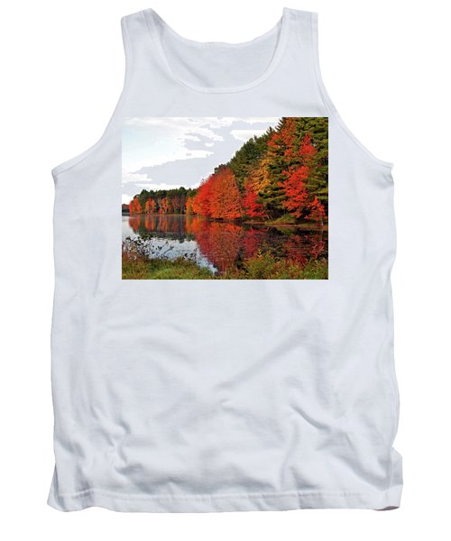 Fall Colors In Madbury Nh Tank Top by Nancy Landry