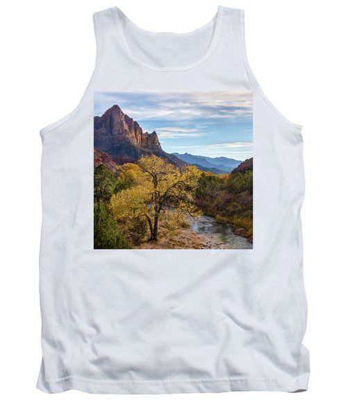 Fall Evening At Zion Tank Top