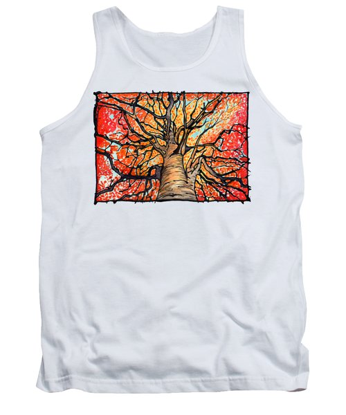 Fall Flush - Looking Up An Autumn Tree Tank Top