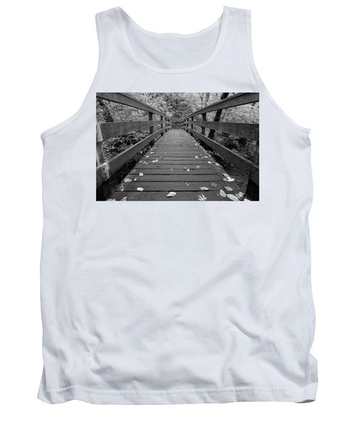 Tank Top featuring the photograph Fall In Oregon Bw by Jonathan Davison