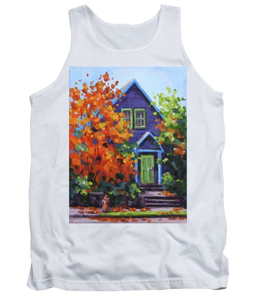 Fall In The Neighborhood Tank Top by Karen Ilari
