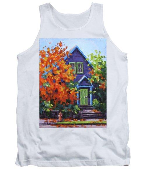 Fall In The Neighborhood Tank Top by Karen Ilari