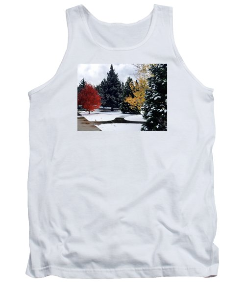 Fall Into Winter Tank Top by Russell Keating
