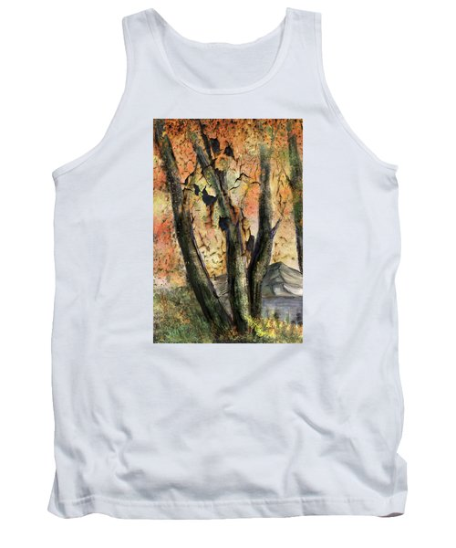 Tank Top featuring the painting Fall Splendor  by Annette Berglund