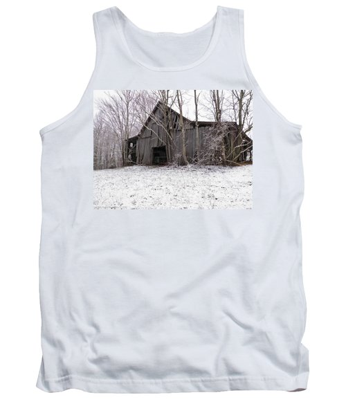 Falling Barn Tank Top by Nick Kirby