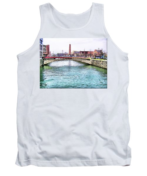 Tank Top featuring the photograph Fallswalk And Shot Tower by Brian Wallace